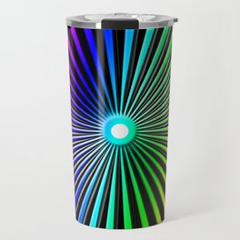 Rainbow Rays Design Travel Mug