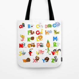ABC (english) Tote Bag