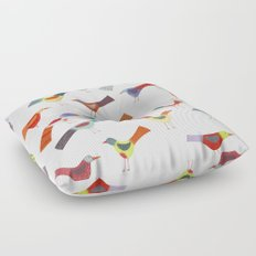 Birds doing bird things Floor Pillow
