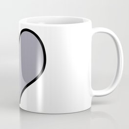 Pantone Lilac Gray Heart Shape with Black Border Digital Illustration, Minimal Art Coffee Mug