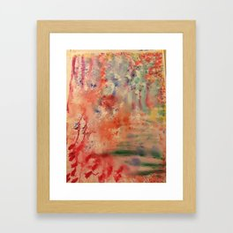 Abstract Watercolor Framed Art Print