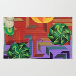 A Maze of a Map Rug
