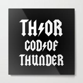 Thor God of Thunder ACDC Back in Black Metal Print