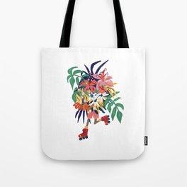 Floral Roller Babe Tote Bag