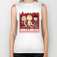 charlie brown Biker Tanks featuring Charlie Of The Dead by Demetrius Marble