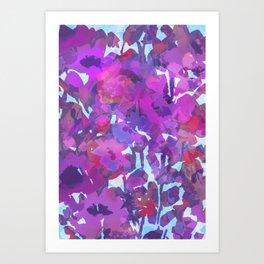 Purple Poppy Patch Art Print