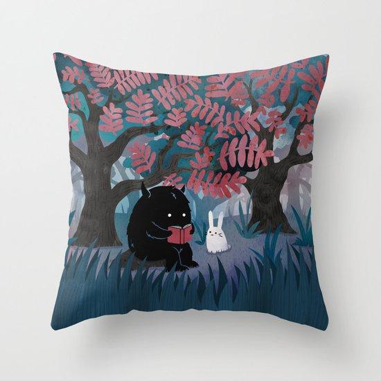 Throw Pillows Spotlight : Another Quiet Spot Throw Pillow by Littleclyde Society6