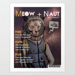 Meow Naut Print 02 Art Print
