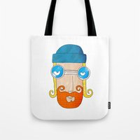 jack daniels Tote Bags featuring Jack by marcusmelton