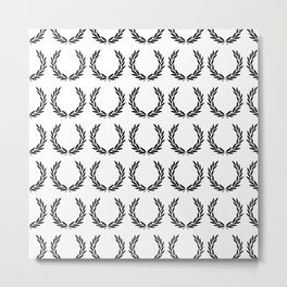Fred Perry pattern Metal Print
