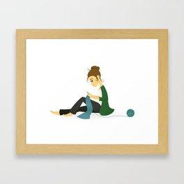 Happy Knitting Framed Art Print