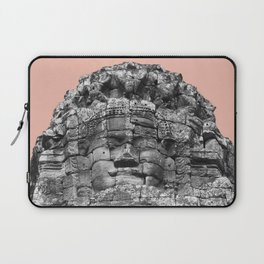 Buddha face with beige Laptop Sleeve