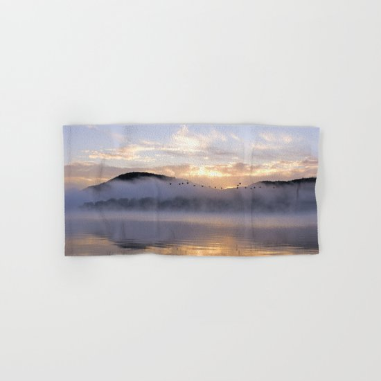 Misty Morning on the Lake Hand & Bath Towel