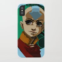 aang iPhone & iPod Cases featuring Aang Portrait by Alert Dynamics
