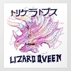 LIZARD QUEEN Art Print