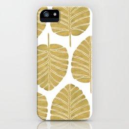 Elephant Ear Alocasia – Gold Palette iPhone Case