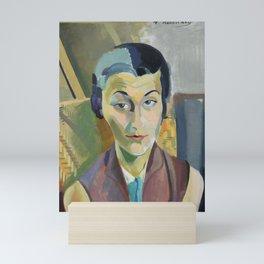 "Robert Delaunay ""Portrait of Maria Lani"" Mini Art Print"