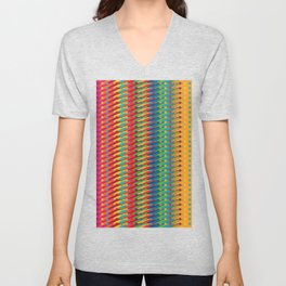 Colourful Pattern with Dots Unisex V-Neck