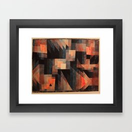 Paul Klee - Gradation, Red-Green (Vermillion) - 1921 Framed Art Print