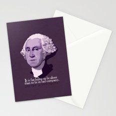 It Is Far Better To Be Alone Stationery Cards