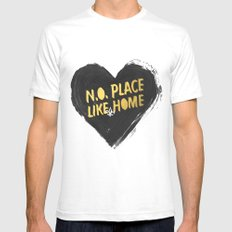 N.O. Place Like HOME Mens Fitted Tee SMALL White