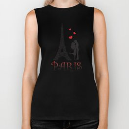 Couple and Eiffel Tower. Biker Tank