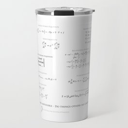 High-Math-Inspiration 01 - Black & Gray Travel Mug