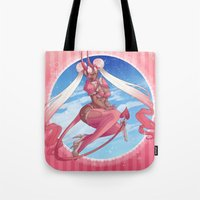 magical girl Tote Bags featuring Magical Girl by Rebeccacablah