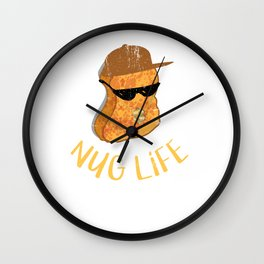 309288 Nug Life - Distressed Design for Chicken Nugget Fans110218 Wall Clock