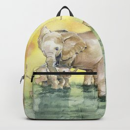 Colorful Mother's Love - Elephant Backpack