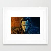 loki Framed Art Prints featuring Loki by Sara Cooley