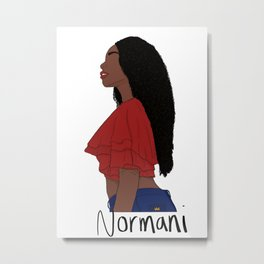 Normani Kordei 2.0 Metal Print