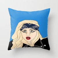 artpop Throw Pillows featuring ARTPOP by Lord Gloria
