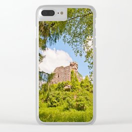 Castle ruin Hohenbourg Clear iPhone Case