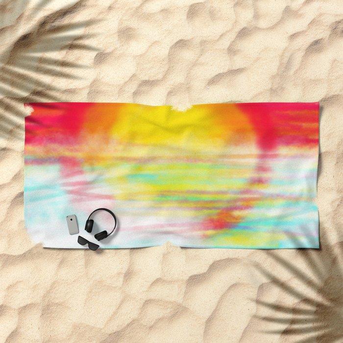 Sunset Sun Beach Towel