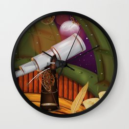 Telescope Observatory  Wall Clock