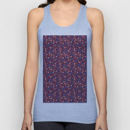 Ditsy Grains Floral in Red Brick Unisex Tank Top
