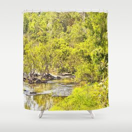 The Edge of the River Shower Curtain