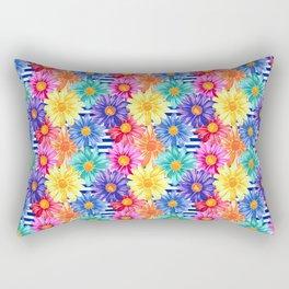 Cutesy Stripe Floral Rectangular Pillow