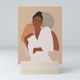 Boho Aesthetic Female, Woman Portrait Mini Art Print