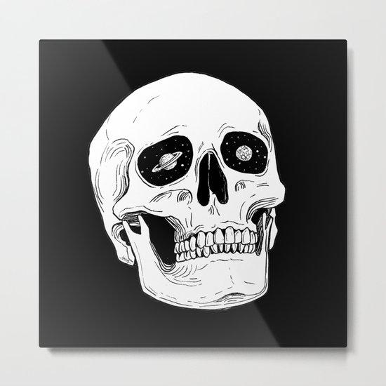 Space Skull Metal Print