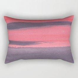 Horizon, purple/red Rectangular Pillow
