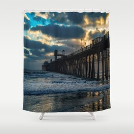 South Side Oceanside Pier ~10-2015 Shower Curtain