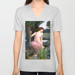 Echo And Narcissus WM Waterhouse Unisex V-Neck