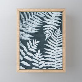 Sun Print Fern #1 Framed Mini Art Print