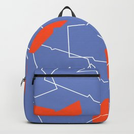 Folded red & blue Backpack