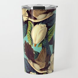 FLORAL AND BIRDS XXI Travel Mug