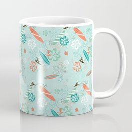Surfs Up Blue Coffee Mug