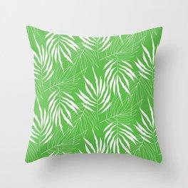 Ash Tree Leaves Scandinavian Pattern Throw Pillow