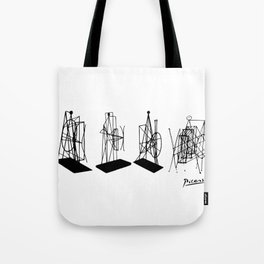 Pablo Picasso Figures Maquette 1928 Memorial to Apollinaire Tote Bag